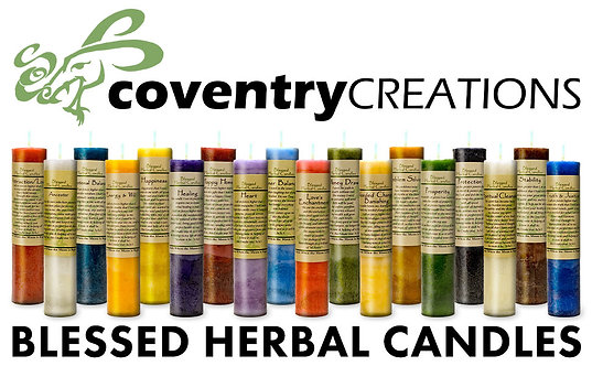 Blessed Herbal Candles by Coventry Creations