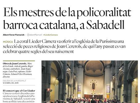 """""""Vespres i Antífones"""" de Joan Cererols. #Crítiques"""