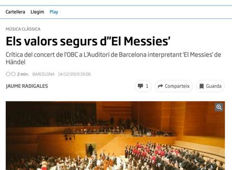 Lieder Càmera canta el Messies a L'Auditori