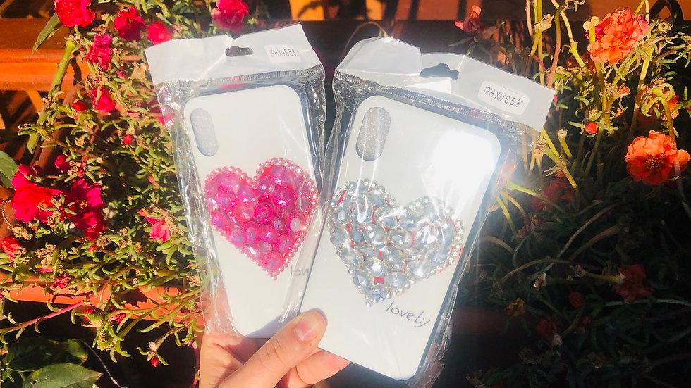 Funda Corazón Diamantes