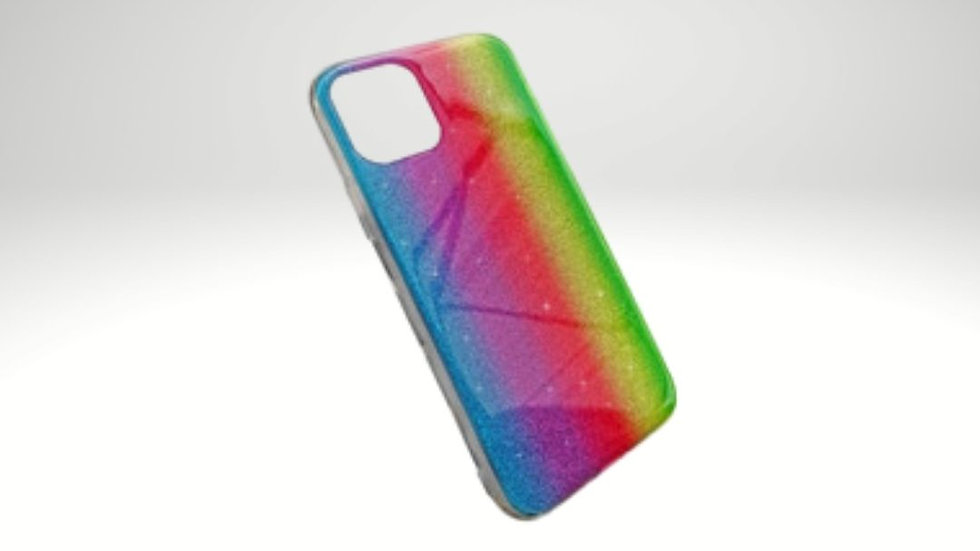Funda brillo arcoiris Iphone