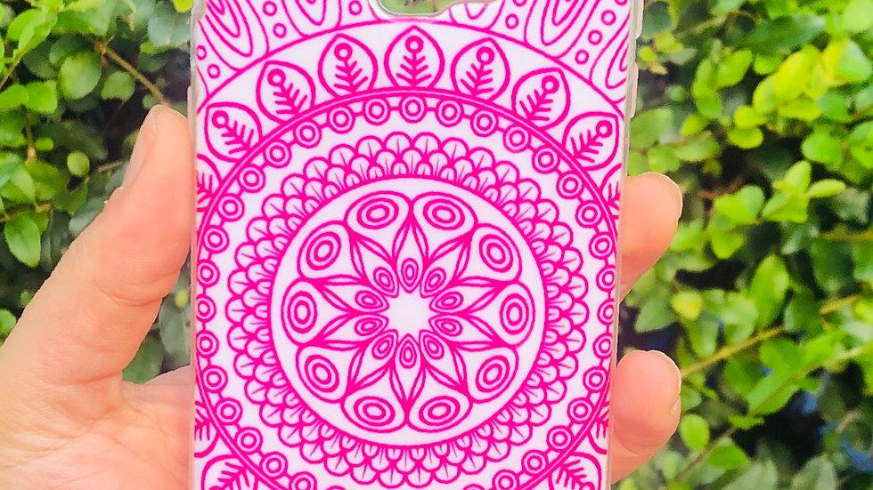 Funda Diseño Mandala Rosa