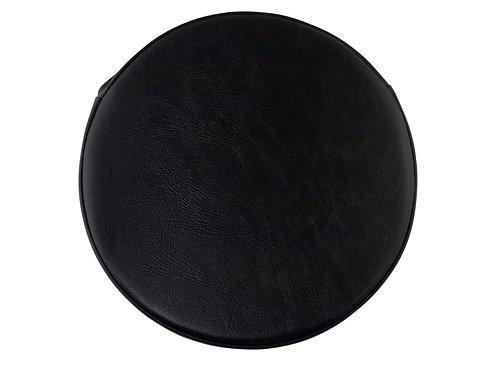 円形PVCレザー座布団  (直径35センチ・ブラック)