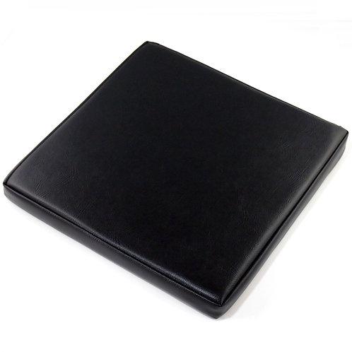【受注生産】PVCレザー座布団   (40×40センチ・ブラック)