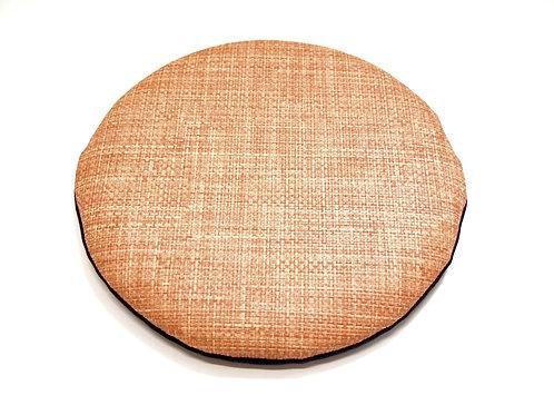 円形PVCレザー座布団<薄型・椅子用> (直径30センチ・柄B-ベージュ系)