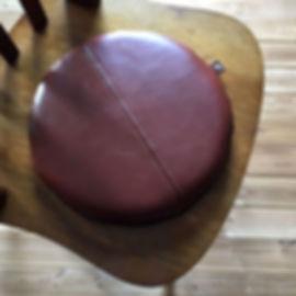 椅子用本革座布団クッション円形