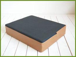 業務用レザー座布団クッションのサイズオーダーメイド(裏面滑り止め生地加工)