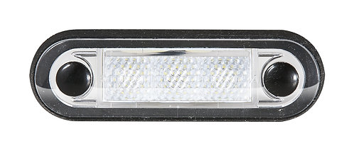 LED positionslykta röd med klar lins för infällt montage