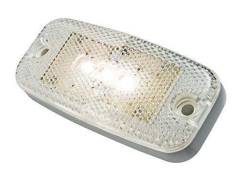 LED Positionslykta vit med inbyggd reflex