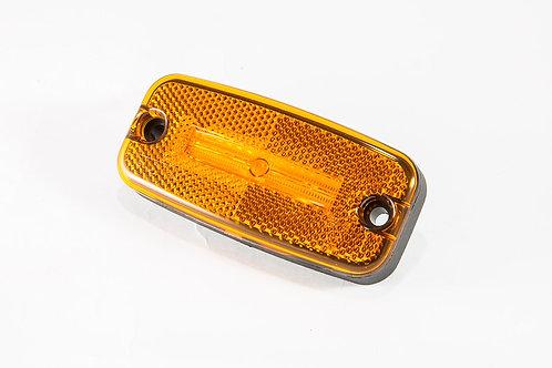 LED Positionslykta orange med inbyggd reflex 0,5m kabel