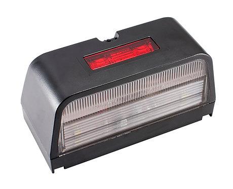 Registreringsskyltbelysning med rött positionsljus