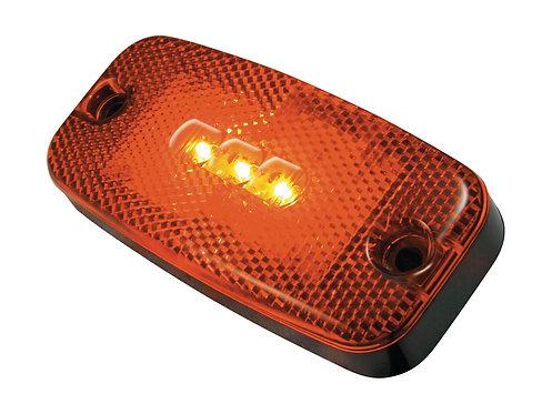 LED Positionslykta röd med inbyggd reflex