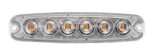 Blixtljus, LED orange med klar lins