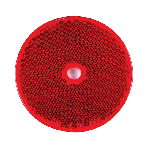Reflex rund röd hål för skruv montering