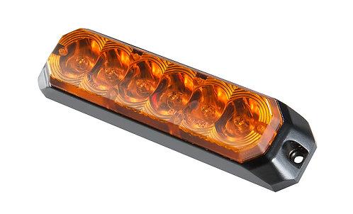 Blixtljus, LED Orange med orange lins