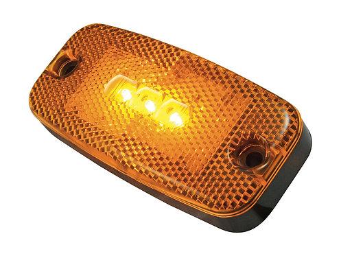LED Positionslykta orange med inbyggd reflex