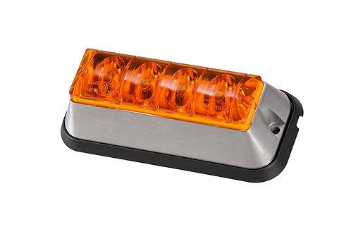 Blixtljus, LED Orange med orange lins för utanpåliggande montering