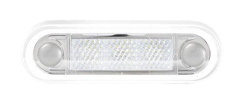 LED positionslykta vit med klar lins för infällt montage