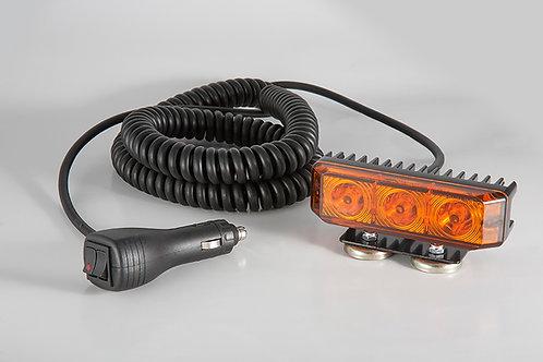 Blixtljus, LED Orange med Flex bygel för tillfällig montering