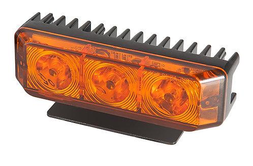 Blixtljus, LED Orange med Flex bygel för smidig montering