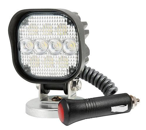 Mellanstor kvadratisk och kraftfull LED arbetslampa