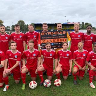 1st Team away kit sponsor Byrndas 2019-20