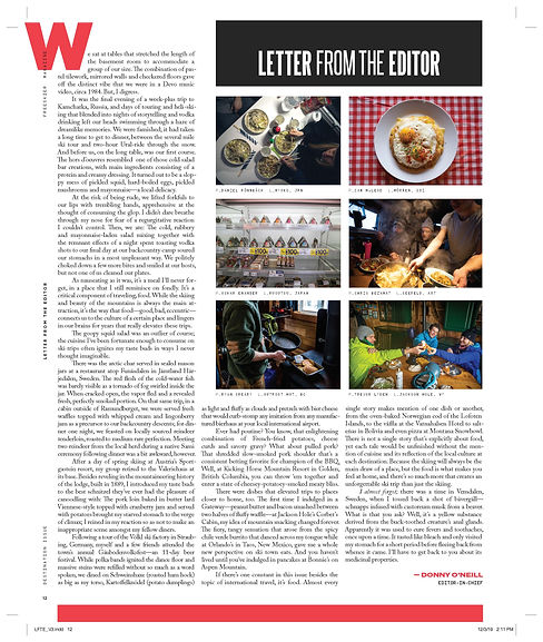 Letter from the Editor - Destination Issue