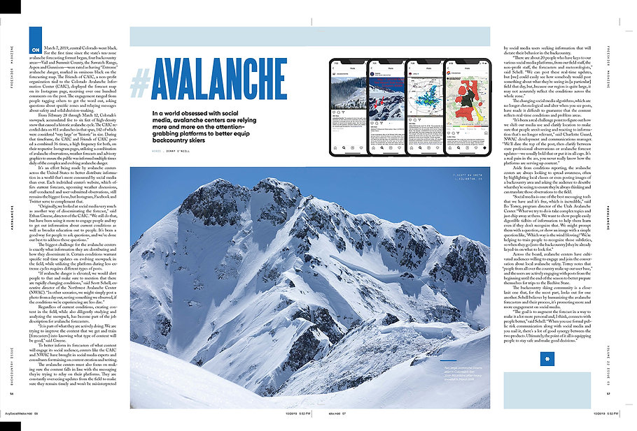 #Avalanche - Backcountry Issue