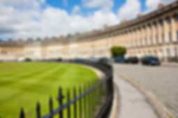 The famous Royal Crescent at Bath Somers
