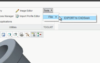 CAD direct  export to CADseek shape search