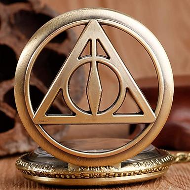 Relógio Talismãs da Morte - Coleção Harry Potter