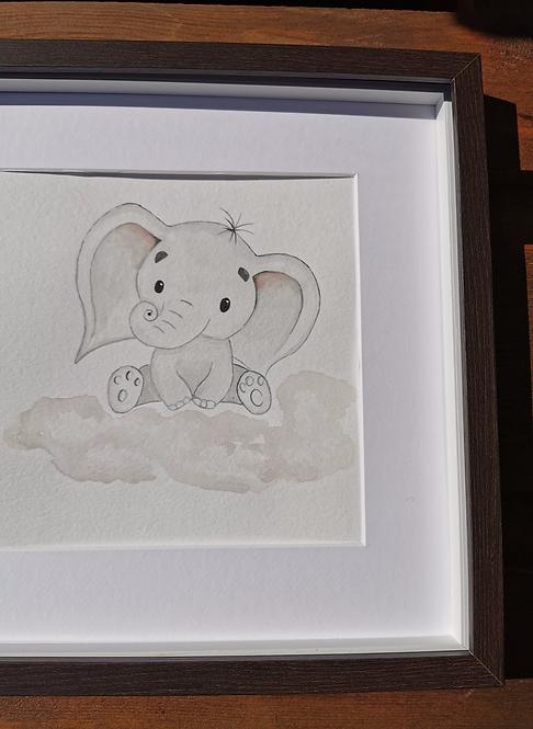 Elefante numa núvem
