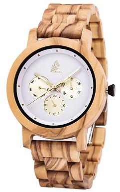 Relógio de madeira pura