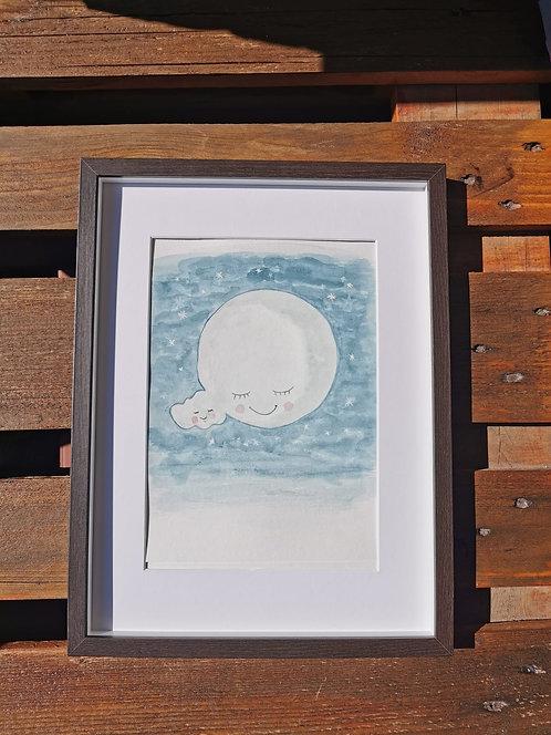 A Lua e a núvem
