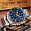 Thumbnail: Relógio de pulso Cronógrafo Designer Silver&Gold