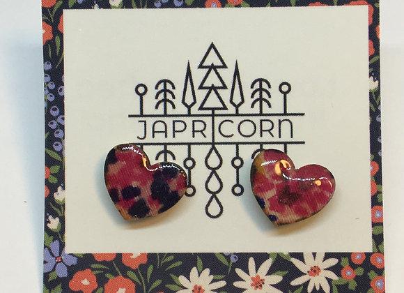 Resin + Fabric Earrings