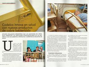 Revista Ingenieros del Cobre | Codelco innova en salud con nuevos productos de cobre bactericida