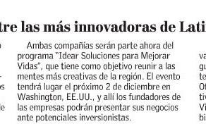 El Mercurio | Dos startups chilenas entre las más innovadoras de Latinoamérica según BID
