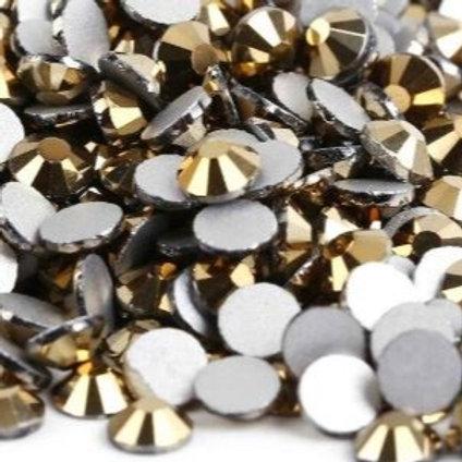 Gold Hermatite Diamantes Crystal Non Hotfix Flatback