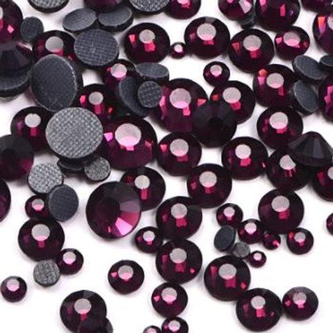 Dark Amethyst Diamantes Crystal Non Hotfix Flatback