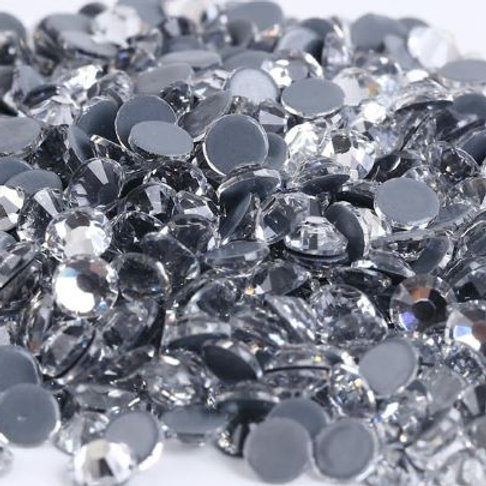 Clear Diamantes Crystal Hotfix Flatback