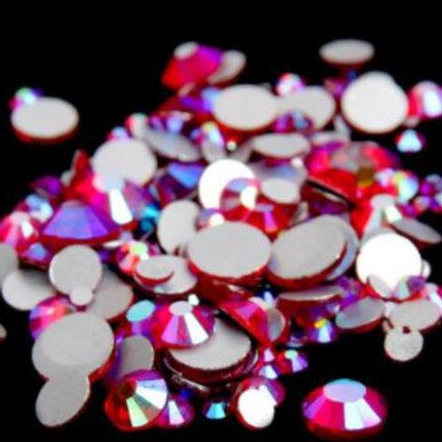 Light Siam AB Diamantes Crystal Non Hotfix Flatback