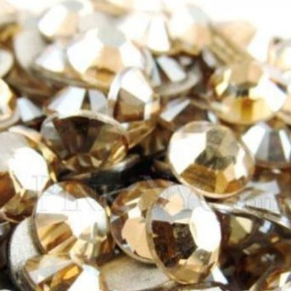 Gold Shadow Diamantes Crystal Hotfix Flat back