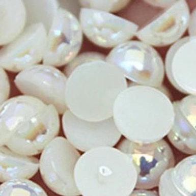 Cream Ivory Pearls AB Non Hotfix Flatback