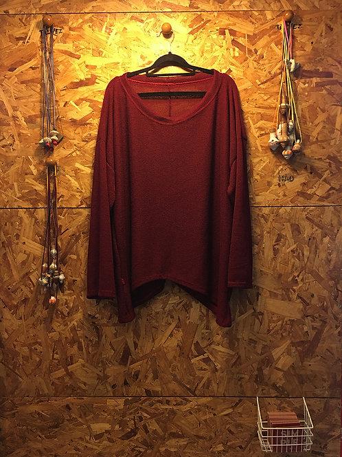 blusa bico tricot