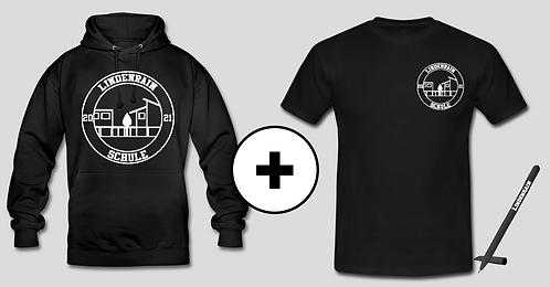 Hoodie + T-Shirt mit Kugelschreiber