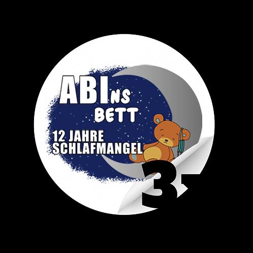 "Sticker ""Abins Bett"" 3x"