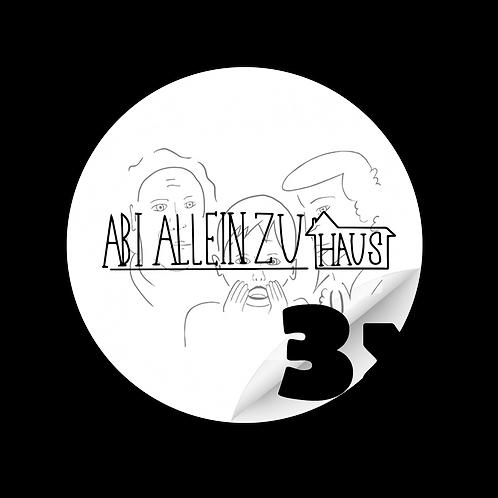 """Sticker """"Abi allein Zuhaus"""" 3x"""