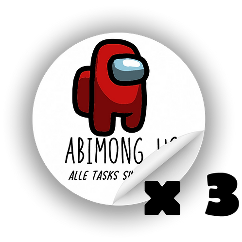 "Sticker ""Abimong Us"" 3x"