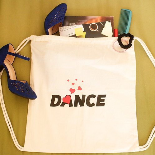 Cotton tote bag with dance logo